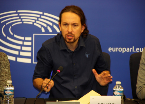 Image of Spanish alternative left Podemos' leader, Pablo Iglesias (by ACN)