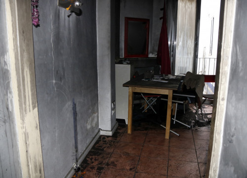 Picture of the flat were the 81-ýears-old woman was living in Reus, after the fire (by ACN)