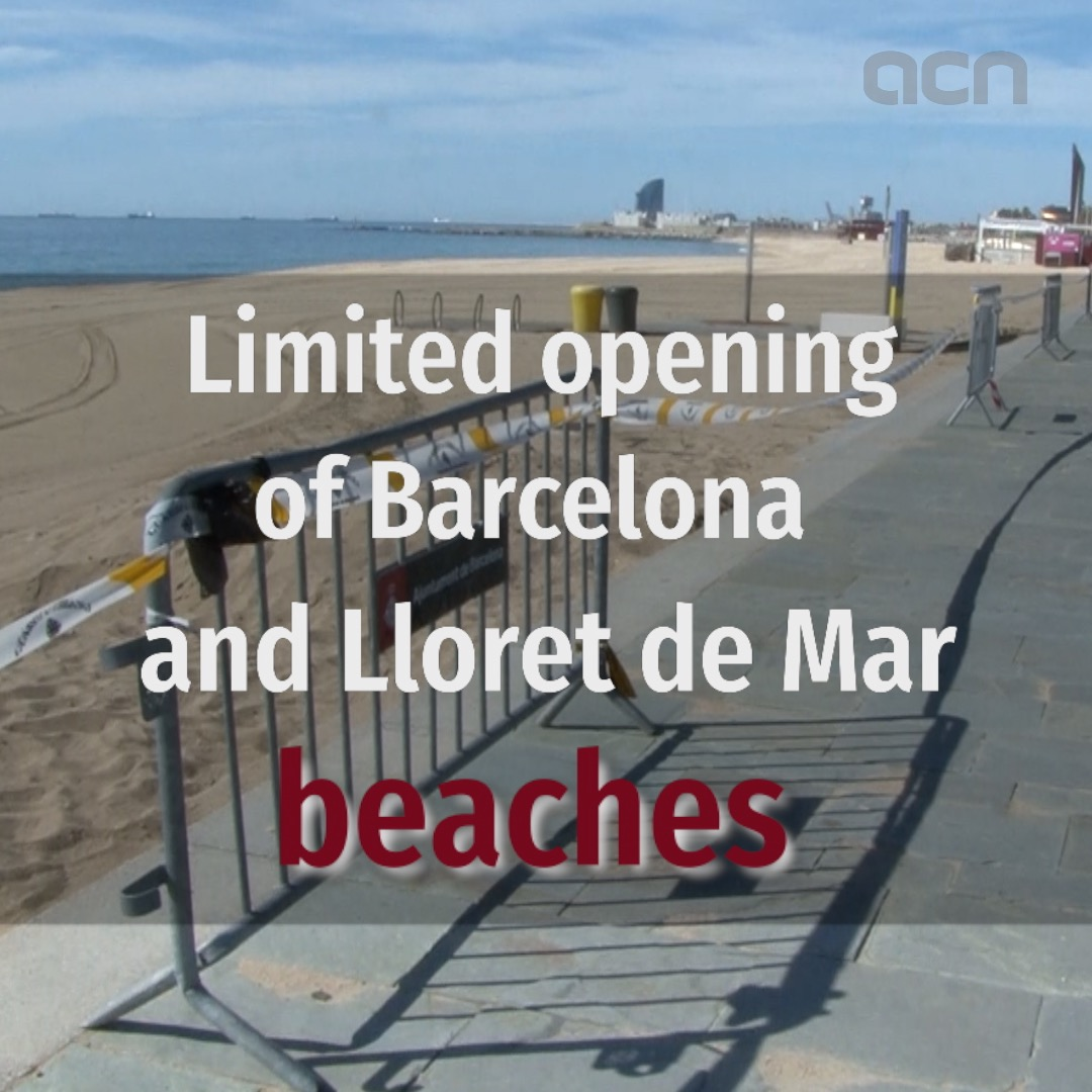 Barcelona beaches open as Lloret de Mar's shore divided into three