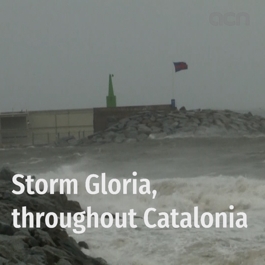 Storm Gloria batters Catalonia