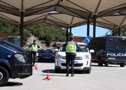 Police controls at Pertús, close to Catalonia's French border (by ACN)