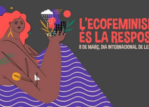 Poster for International Women's Day in Barcelona (Ajuntament de Barcelona)