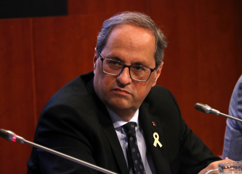 President Quim Torra at an event on May 31 (Guillem Roset/ACN)