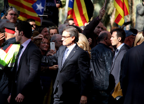 Catalan President, Artur Mas, after leaving Barcelona Courthouse last October (by ACN)