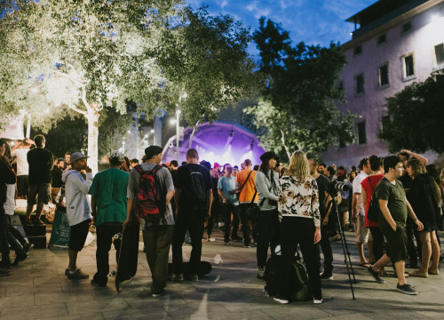 Primavera al Raval stage at the CCCB in Barcelona's el Raval neighbourhood. (Photo: Garbine Irizar, courtesy of Primavera Sound)