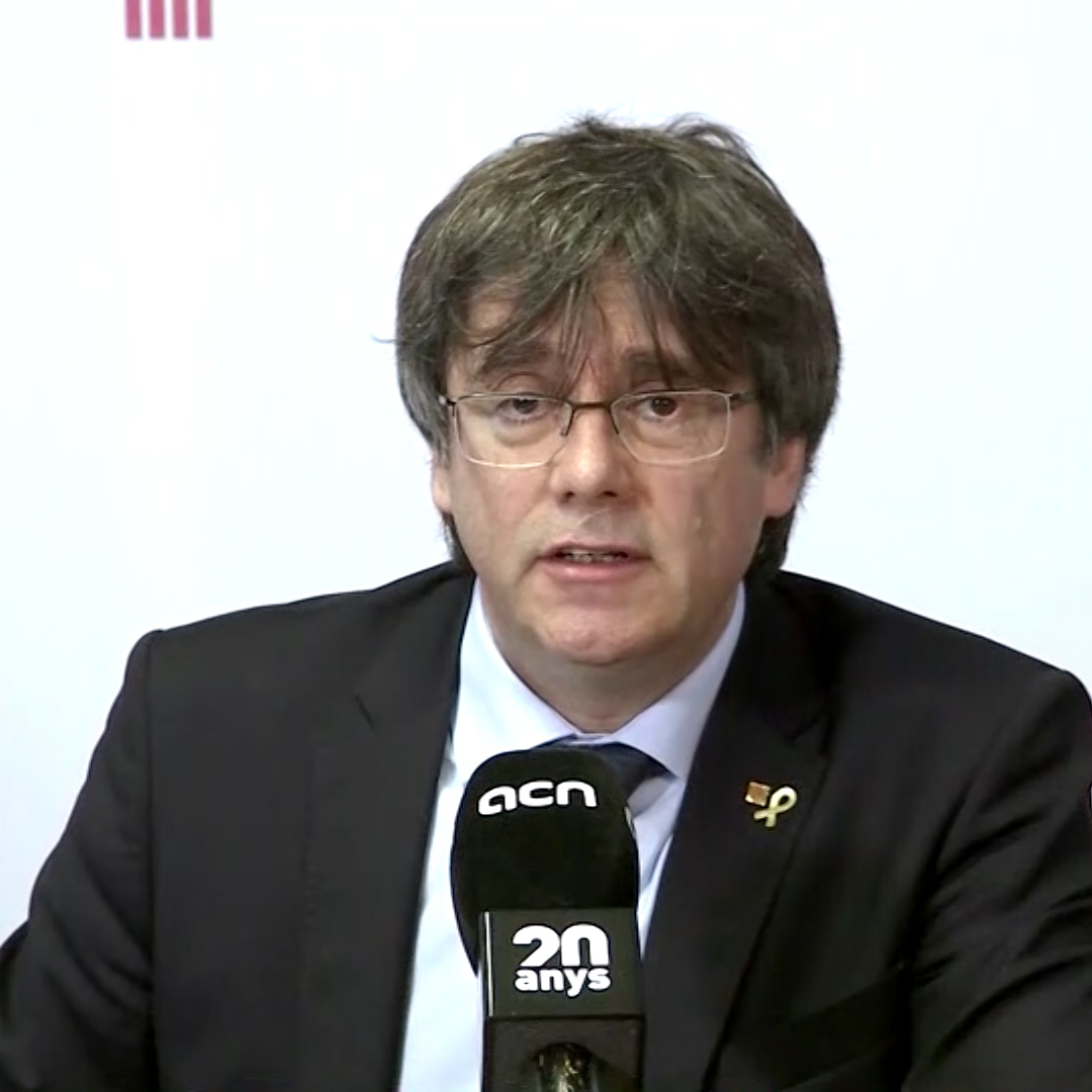 Puigdemont on his right to become MEP: 'There is no doubt about my immunity'