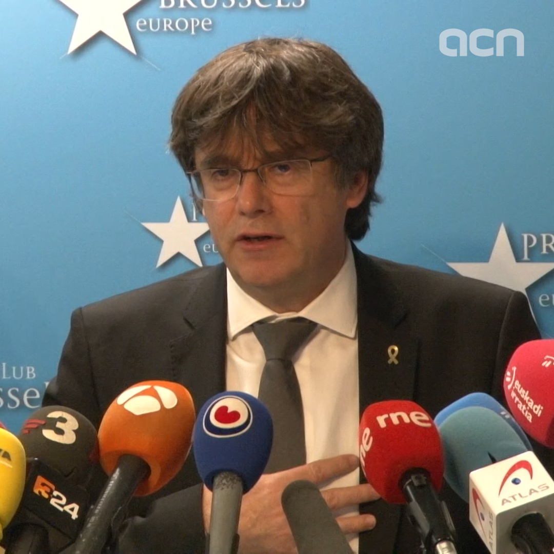Puigdemont says it is 'time to demonstrate the power of the people to the EU'