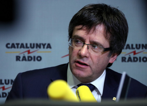 Catalan President, Carles Puigdemont, during an interview with Catalunya Radio (by ACN)