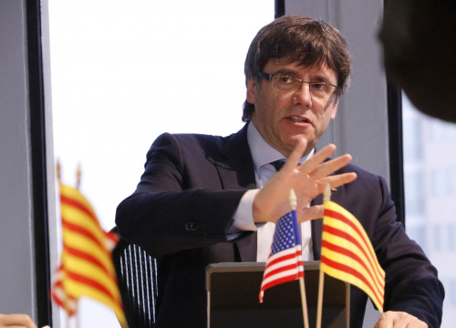 Catalan President, Carles Puigdemot, visited Cambridge Innovation Centre (CIC) this Monday (by ACN)