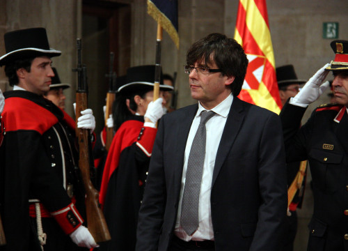 New Catalan President, Carles Puigdemont took office this Tuesday (by ACN)