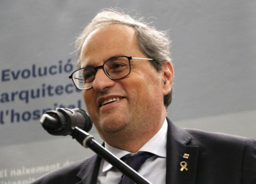 Quim Torra at an event in Vic on January 10, 2020 (by Laura Busquets)