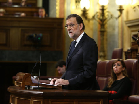 The Current Spanish President, Mariano Rajoy, on the second day of the debate on investiture (by Spanish Parliament)