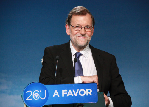 Current Spanish President, Mariano Rajoy during his first press conference after winning th Spanish Elections (by ACN)