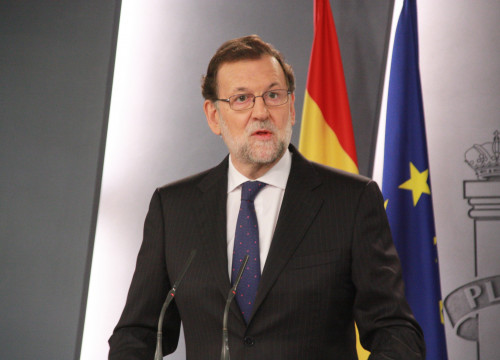 Image of Current Spanish Prime Minister, Mariano Rajoy during an appearance before the media (by ACN)
