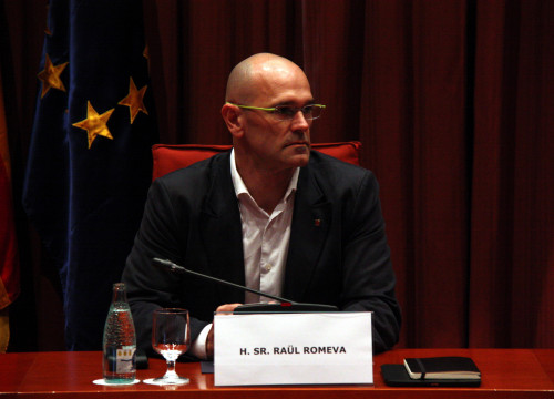 New Catalan Minister for Foreign Affairs, Raül Romeva during the XXVI European Day in the Parliament (by ACN)