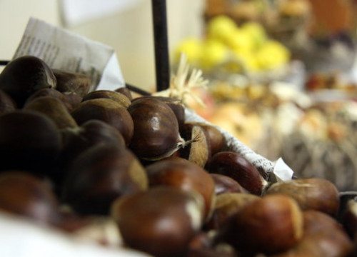 Raw chestnuts in an image from 2015 at Mercabarna (by Laura Fíguls)