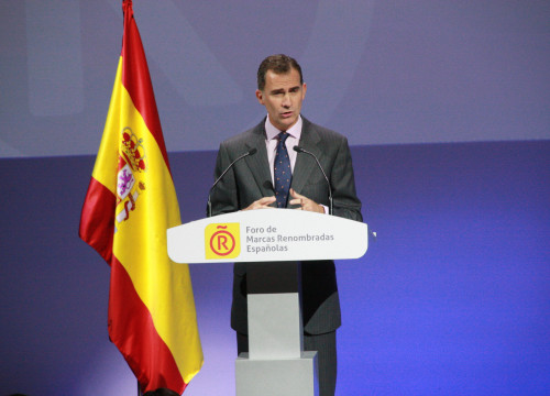Spain's King, Philip VI at a ceremonial event of 'Marca España' in Madrid (by ACN)