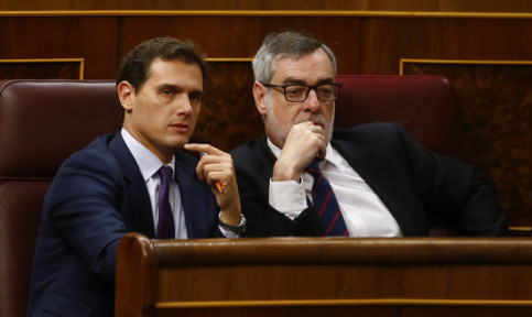 Albert Rivera with his party's general-secretary José Manuel Villegas