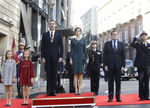 Spain's Royal Family and Spanish President, Mariano Rajoy, during the openning of the XII term of office in Madrid (by ACN)