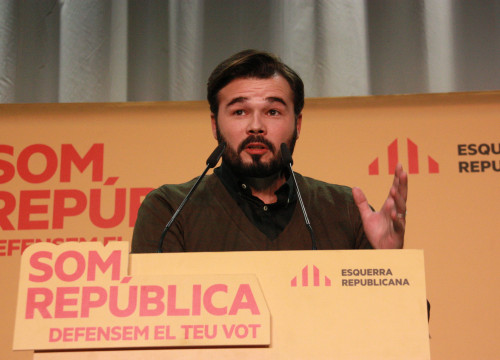 ERC's candidate for Barcelona to run for the Spanish Elections, Gabriel Rufián (by ACN)
