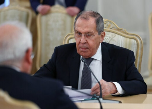 Russian foreign minister Sergey Lavrov meeting with EU High Representative Josep Borrell (Russian Ministry of Foreign Affairs/Reuters)