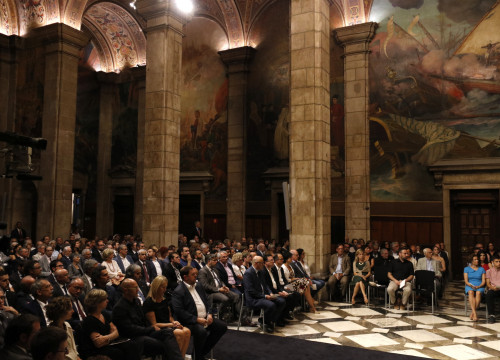 Muriel Casals was posthumously award the Gold Medal of the Generalitat this Thursday at an institutional ceremony (by ACN)
