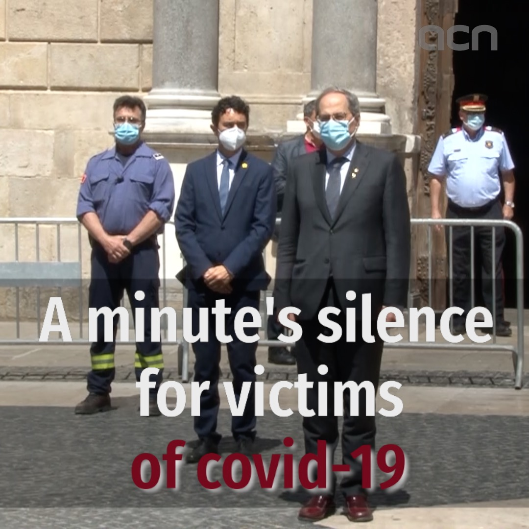 A minute's silence for victims of Covid-19