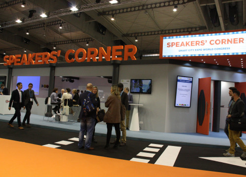'Speakers Corner', at 'Smart City Expo World Congress', is where the conferences take place (by ACN)