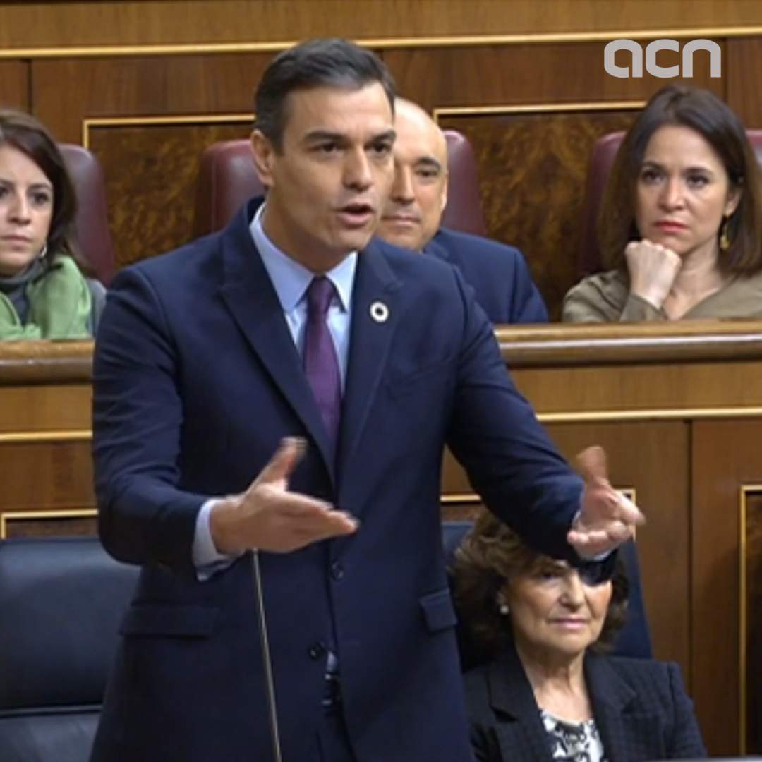 Pedro Sánchez defends dialogue with Catalonia in Spanish congress