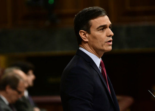 Socialist Pedro Sánchez during the second congressional debate on January 7, 2019 (by Jordi Vidal)