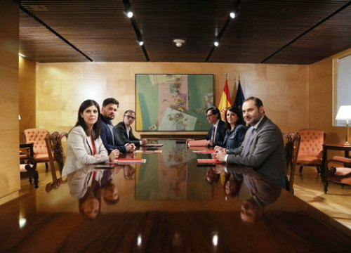 Socialists meeting with Esquerra Republicana to discuss backing for Pedro Sánchez presidency (by PSOE)