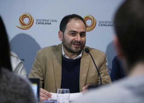 Societat Civil Catalana president Fernando Sánchez Costa on February 28, 2020 (by Gerard Artigas)