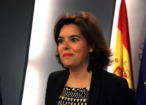 Current Spanish Government Vice President Soraya Sáenz de Santamaría (by ACN)
