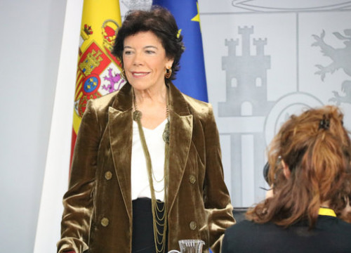 Spanish government spokesperson Isabel Celaá on December 20, 2019 (by Roger Pi de Cabanyes)