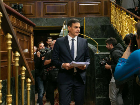 Spanish president Pedro Sánchez at Congress on October 24 2018 (by Roger Pi de Cabanyes)