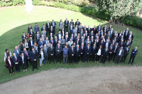 Image of the 120 members in the Strategic Board for the Mediterranean Corridor Railway (by ACN)