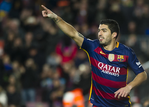 Luis Suárez is back in cup action after a two game ban (by FCB)