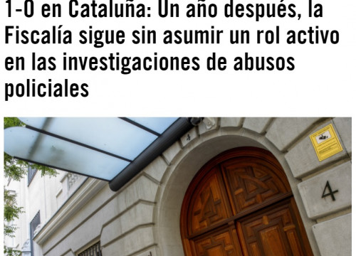 The Amnesty International Spain webpage where Beltrán's piece is published on September 28 2018 (ACN, photo through Amnesty International by GTRES)