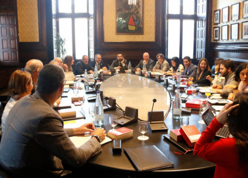The Catalan parliament's spokespeople's committee on September 17, 2019 (by Marina Llibre)