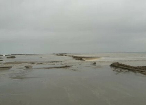 The Ebre river delta's Barra del Trabucador after Storm Filomena (Courtesy of Infosa)