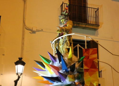 The King of Carnival Carnestoltes on his float in Sitges on February 28 2019 (by Gemma Sànchez)