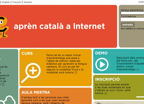 The Parla.cat website offers free online Catalan lessons