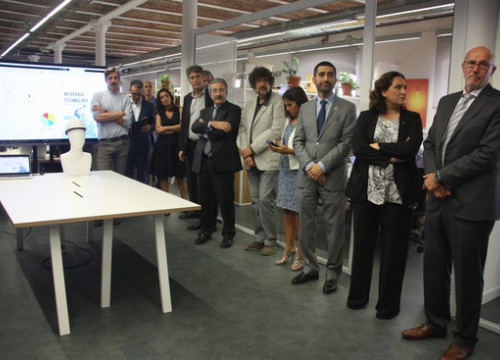 The inauguration of Thinx 5G technology lab, with Barcelona mayor Ada Colau on the right and minister of Digital Politics Jordi Puigneró on September 26 2018 (by Maria Fernández Noguera)