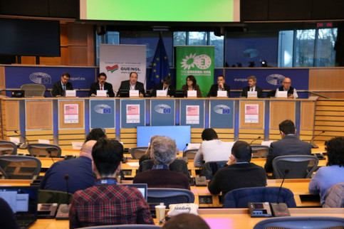 "The lawyers of Carles Puigdemont, Oriol Junqueras, Rafael Correa and Lula da Silva denounce the ""judicialization of politics"" in the EU parliament (by Natàlia Segura)"