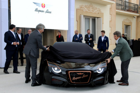 The moment Hispano Suiza unveiled their €1.5 Carmen Boulogne luxury car in Sant Pere de Ribes, south of Barcelona, on March 3, 2020 (by Cristina Tomàs White)