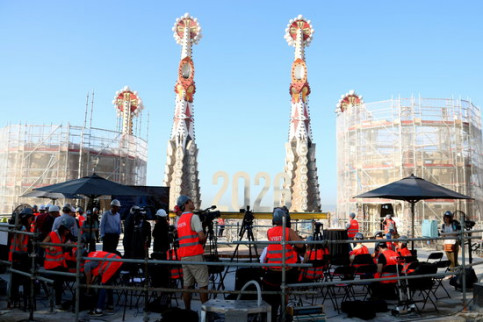 The press conference for what will be the Sagrada Familia tower on September 20 2018 (by Pau Cortina)