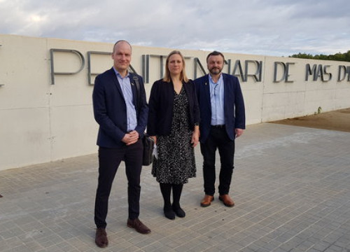 The three Danish MPs who visited Carme Forcadell in prison on November 8 2018 (Òmnium Cultural)