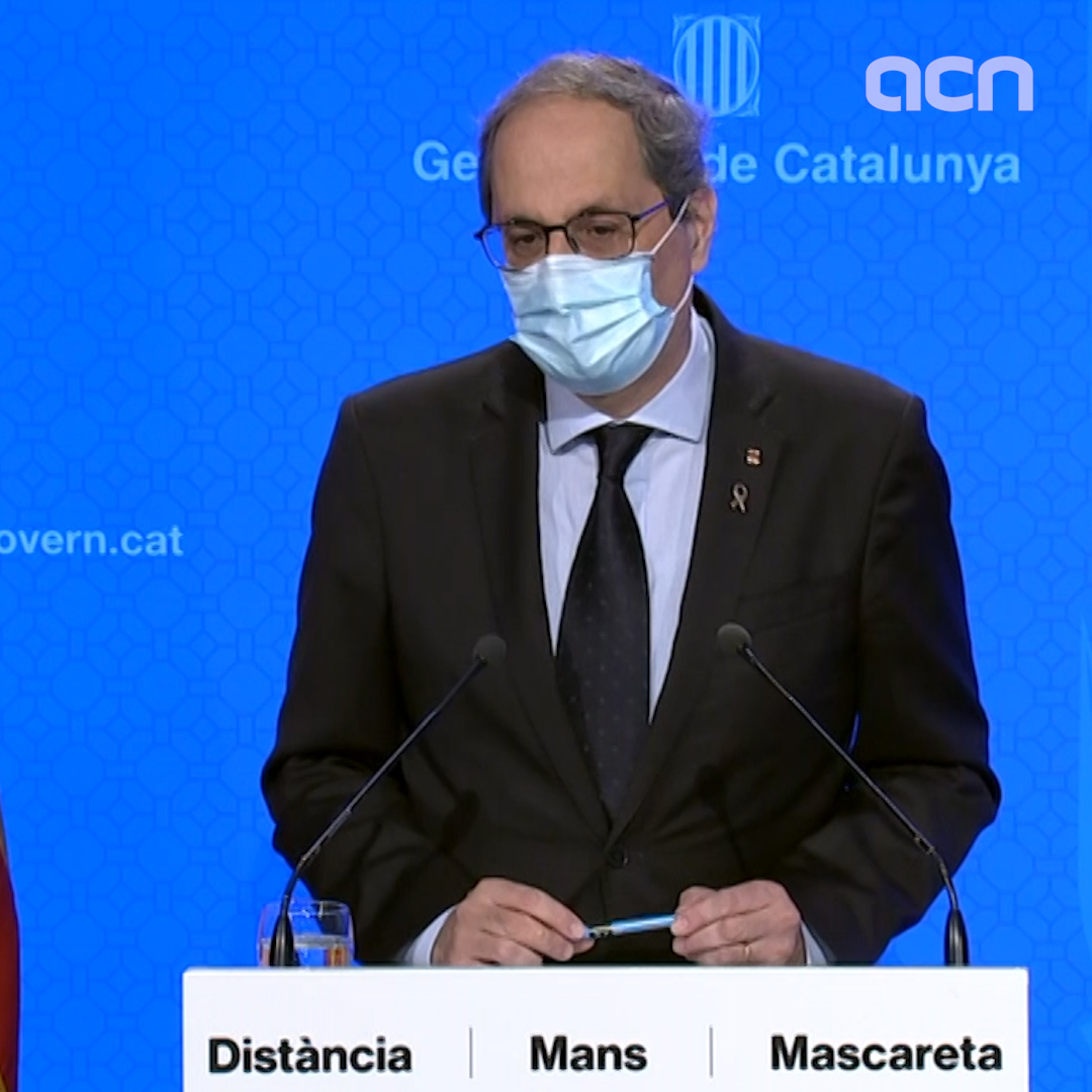 Catalan president: 'We all have to act in the right way'