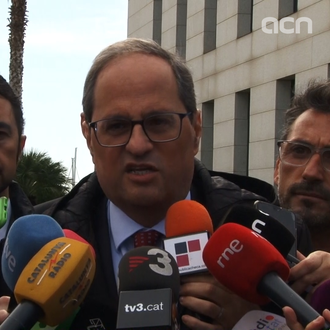 """Keeping up yellow ribbons is freedom of expression,"" says Catalan president"