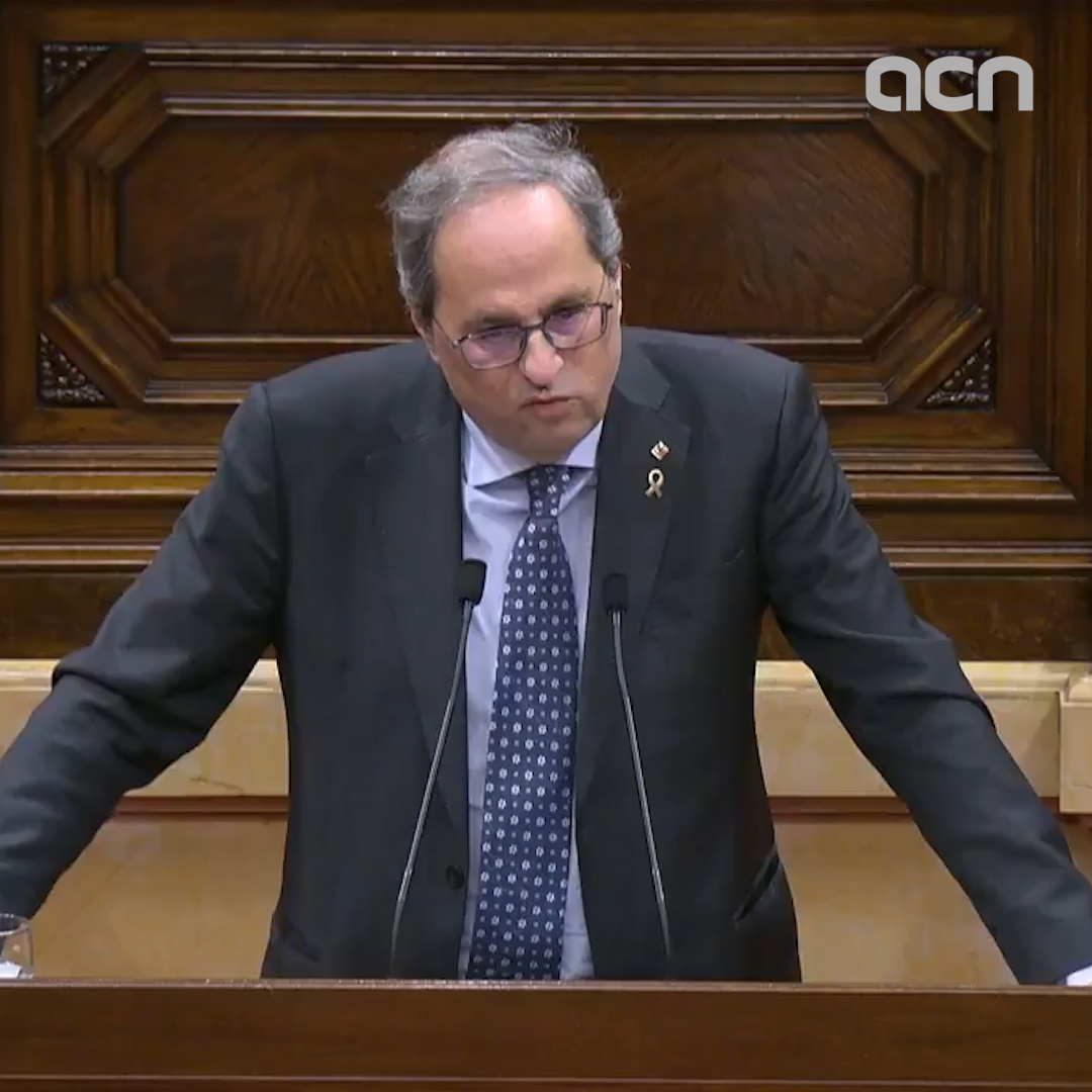 Torra appeals to parliament to reverse the withdrawal of his status as MP